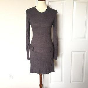 BCX Gray Knit Sweater Dress